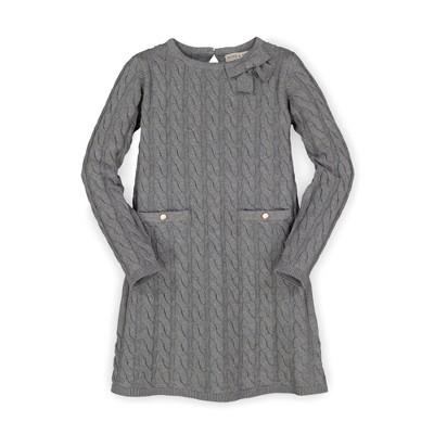 Hope & Henry Girls' Bow Detail Sweater Dress