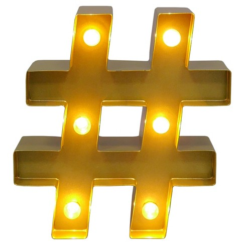 Marquee Letter Light Brass #   Threshold™ : Target