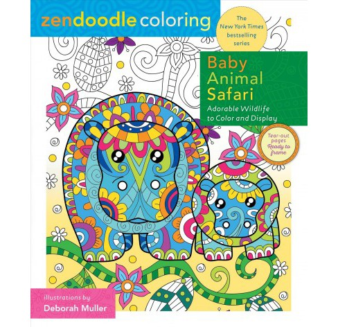 Baby Animal Safari : Adorable Wildlife to Color and Display -  by Jeanette Wummel (Paperback) - image 1 of 1