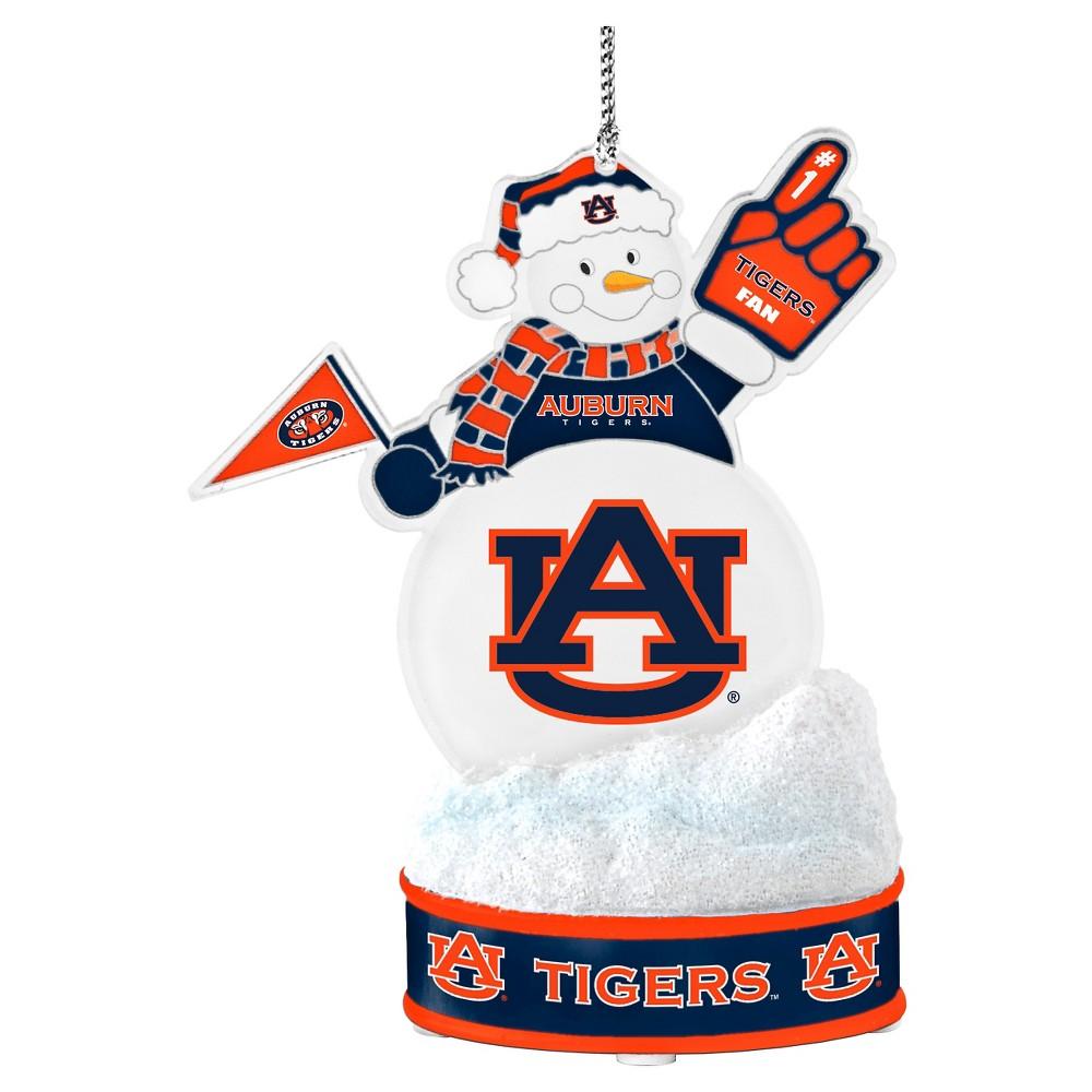 NCAATopperscot Led Snowman Ornament Auburn Tigers
