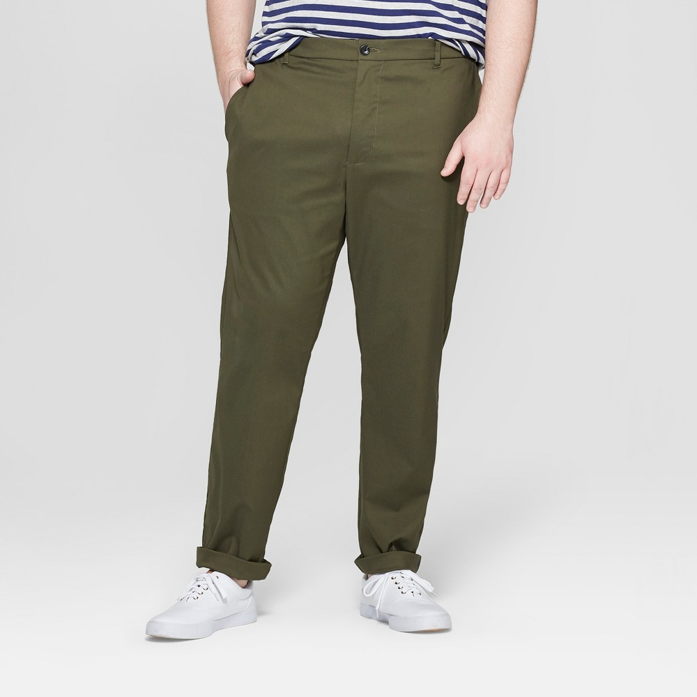 Men's Big & Tall Chino Pants - Goodfellow & Co Late Night Green 52x32