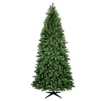 9ft Pre Lit Artificial Full Christmas Tree Douglas Fir Auto Connect Clear Lights   Wondershop™ by Wondershop