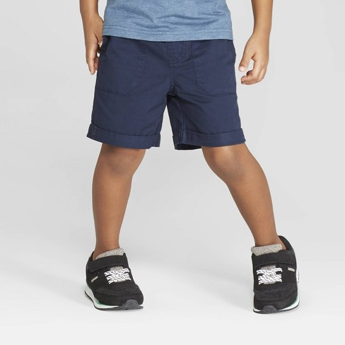 Toddler Boys' Twill Pull-On Shorts - Cat & Jack™ Navy - image 1 of 3