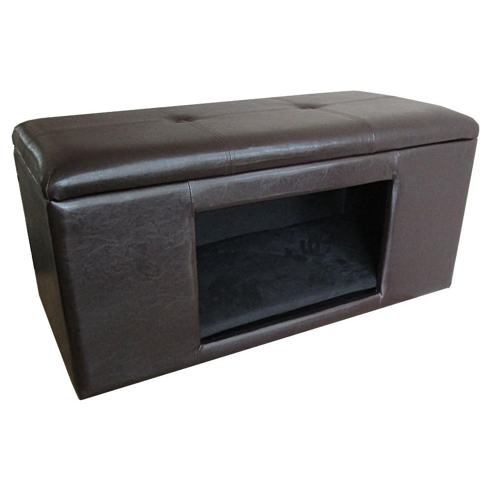 HomePop Bench Dog Bed - Brown