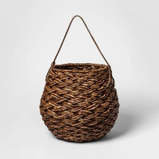 "Medium Round Basket Espresso Brown 12.75""x14.25"" - Threshold™"