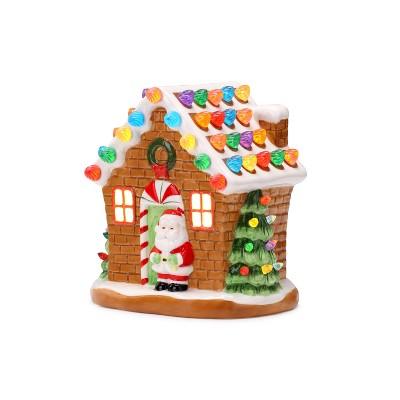 "Mr. Christmas Nostalgic Gingerbread House Ceramic Christmas Decoration -7.5"""