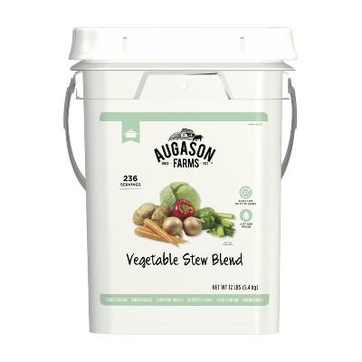 Augason Farms Vegetable Stew Blend Certified Gluten Free Emergency Bulk Food Storage 4-Gallon Pail 236 Servings