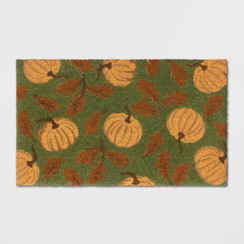 """18""""X30"""" Pumpkins Coir Doormat Green - Threshold™ - image 1 of 3"""