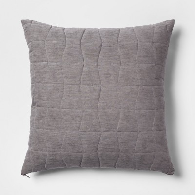 Quilted Geo Oversize Square Throw Pillow Gray - Project 62™