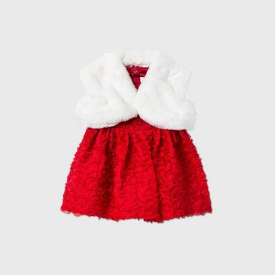 Baby Girls' Cardigan Top & Bottom Set - Cat & Jack™ Red 6-9M