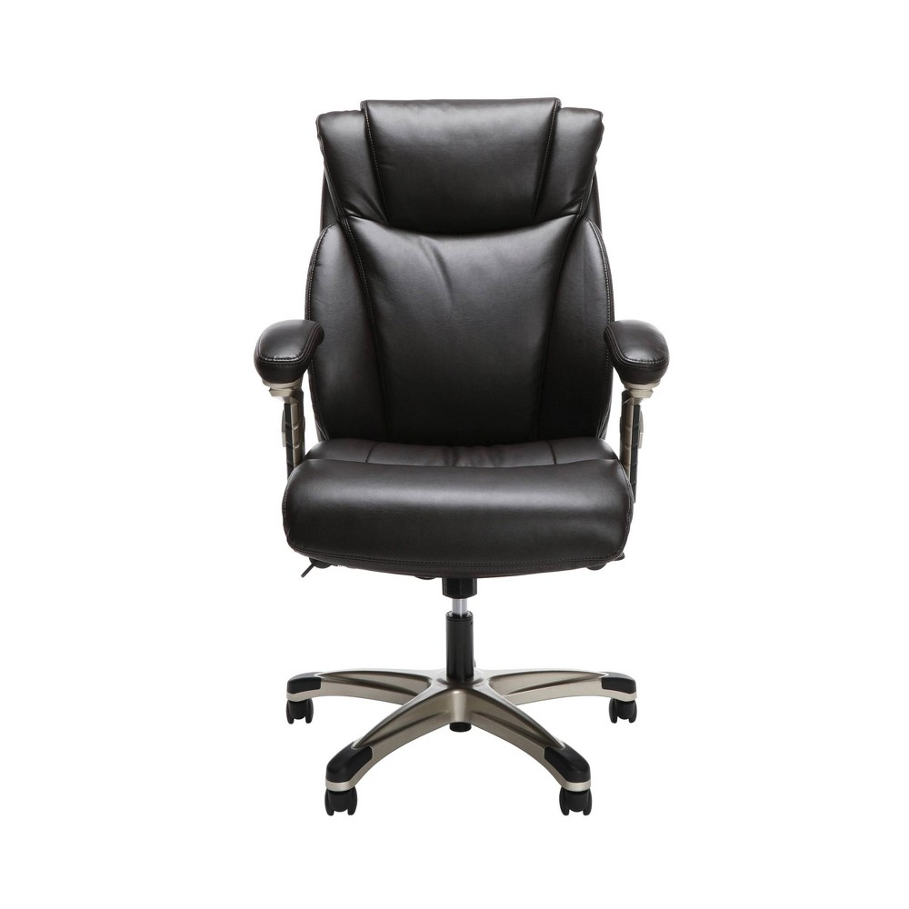 Ergonomic Executive Bonded Leather Office Chair Brown - Ofm