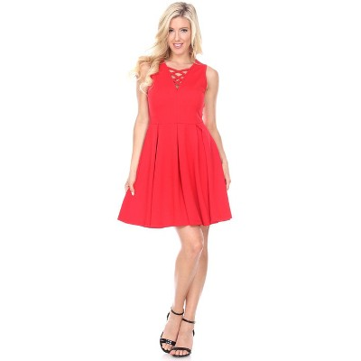 Women's Shay Sleeveless Fit & Flare Dress - White Mark