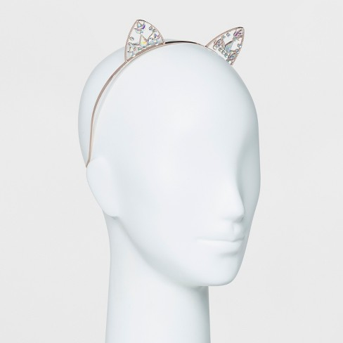 Metal Gems Cat Ear Headband - Wild Fable™ Rose Gold - image 1 of 1