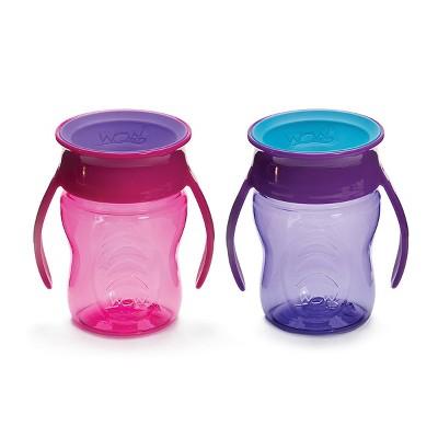 WOW Tritan Baby Cup - Pink/Purple 2pk/14oz