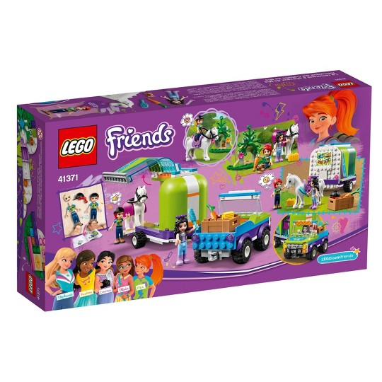 LEGO Friends Mia's Horse Trailer 41371 Building Kit with Mia and Stephanie Mini Dolls 216pc image number null
