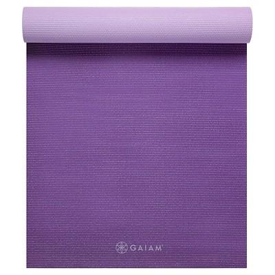 Gaiam 2 Color Premium Yoga Mat - Plum Jam (6mm)