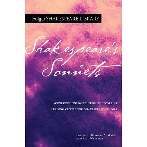 Shakespeare's Sonnets - (Folger Shakespeare Library) by  William Shakespeare (Paperback) - image 1 of 1