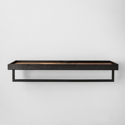 Bathroom Towel Bar & Shelf Black - Hearth & Hand™ with Magnolia