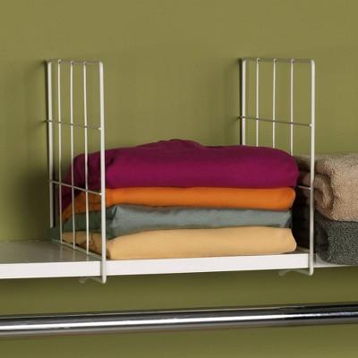 Household Essentials 2ct Shelf Divider White