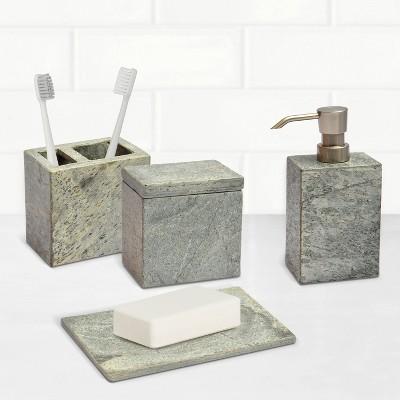4pc Slate Bath Coordinate Set Silver - Project 62™