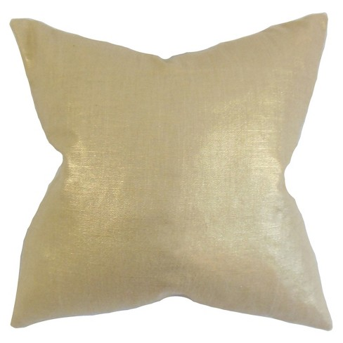 "Gold Sequin Square Throw Pillow (18""x18"") - The Pillow Collection - image 1 of 1"