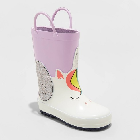 Toddler Girls' Peggy Rain Boots - Cat & Jack™ Pink - image 1 of 3