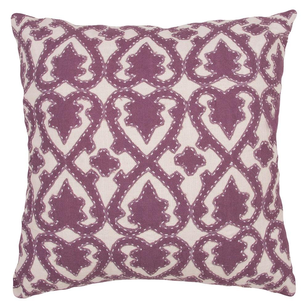 Purple Inspired By Jennifer Adams Square Throw Pillow - Jaipur