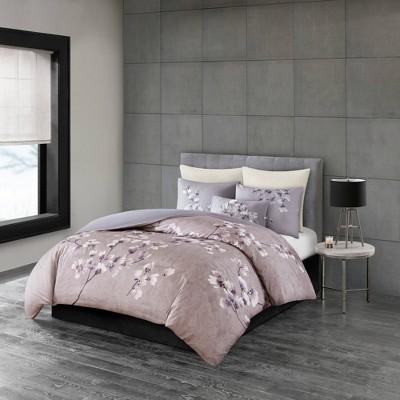 Sakura Blossom Cotton Sateen Printed Comforter Set
