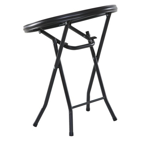 Onespace 16 Basics Round Folding Side Table Clear Gray Target