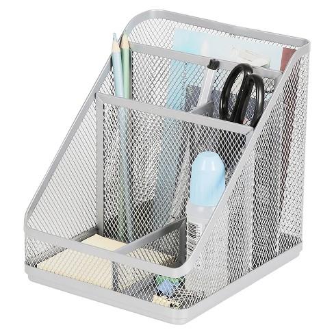 Mesh Medium Desktop Organizer Silver - Made By Design™ - image 1 of 4