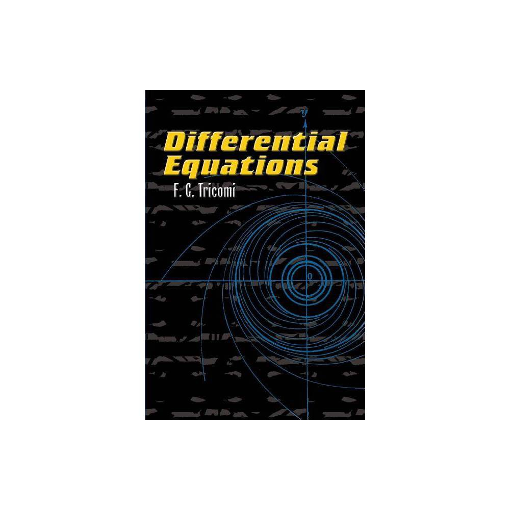 Differential Equations Dover Books On Mathematics By F G Tricomi Paperback