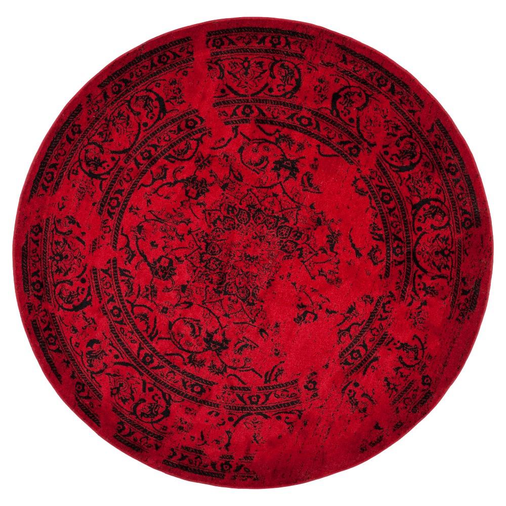 Addaneye Area Rug - Red/Black (8' Round) - Safavieh