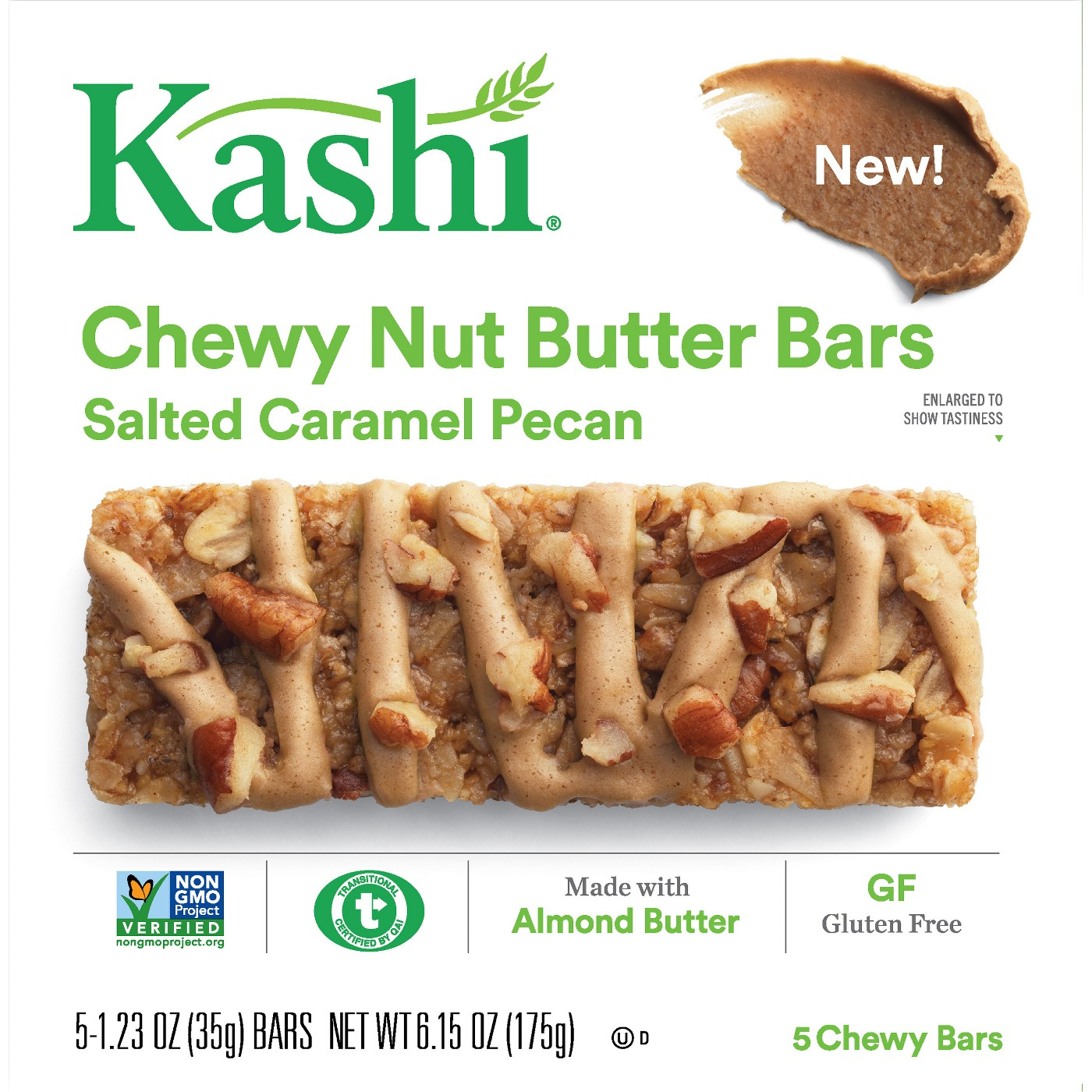 Kashi Salted Caramel Pecan Chewy Nut Butter Bars - 5ct - image 1 of 4
