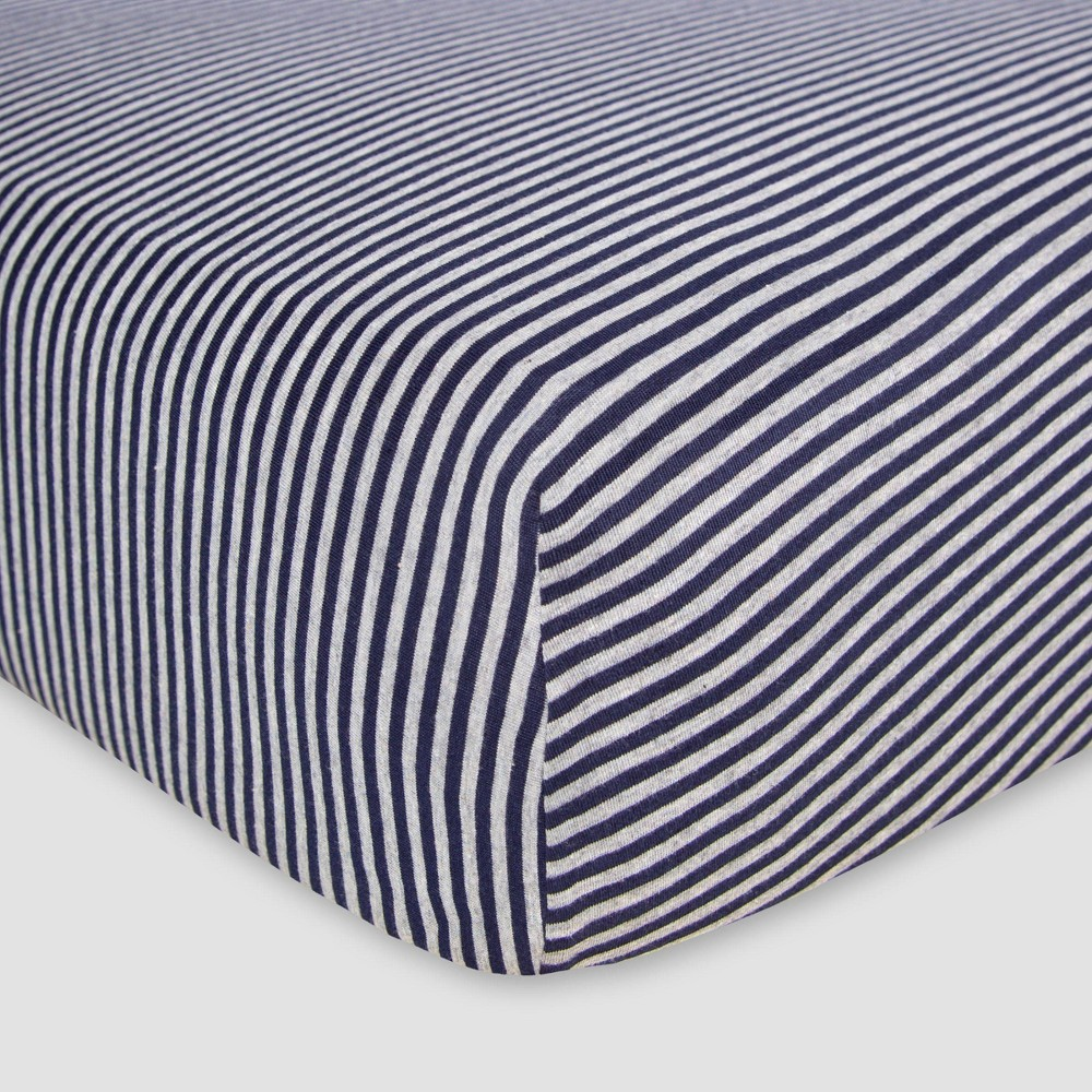 Image of Burt's Bees Baby Organic Fitted Crib Sheet - Bee Essentials - Blueberry