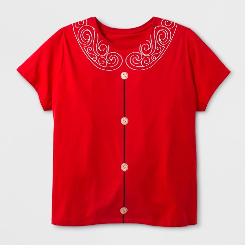 Women's Plus Size Short Sleeve Mrs. Claus T-Shirt - Red 2X - image 1 of 2