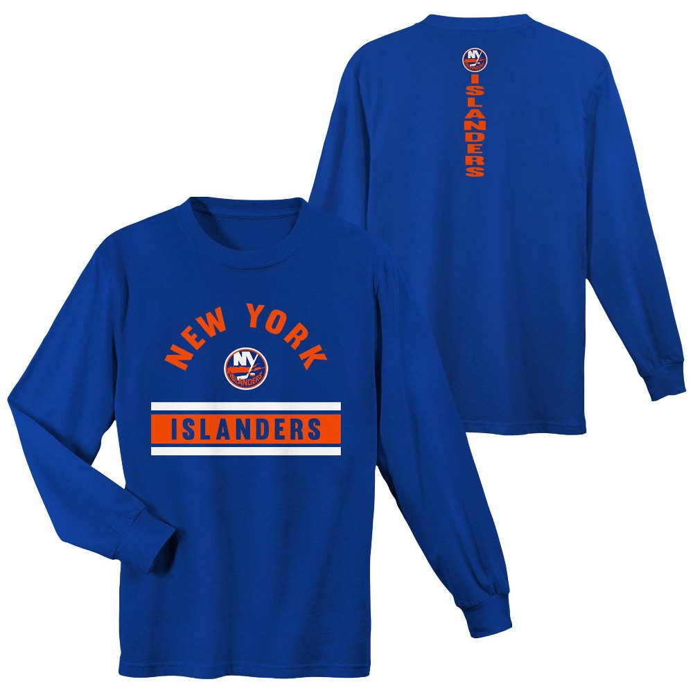 New York Islanders Boys' Warming House Long Sleeve T-Shirt - M, Multicolored