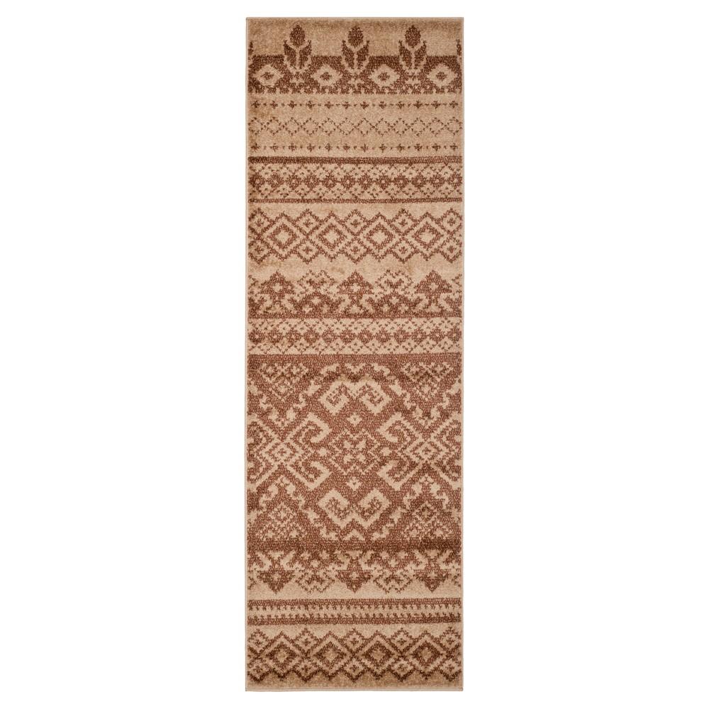 Adron Runner - Camel/Chocolate (Camel/Brown) (2'6x14') - Safavieh