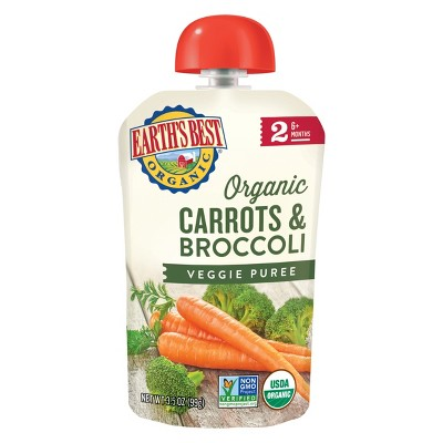 Earth's Best Organic Carrots & Broccoli Baby Food Pouch - 3.5oz