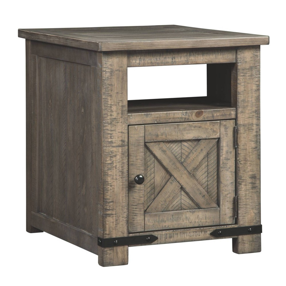 Aldwin Rectangular Storage End Table Gray - Signature Design by Ashley