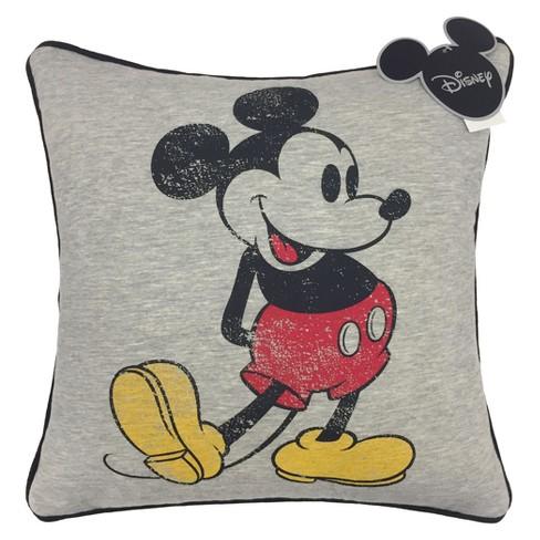 disney mickey mouse 15 x15 jersey throw pillow gray target