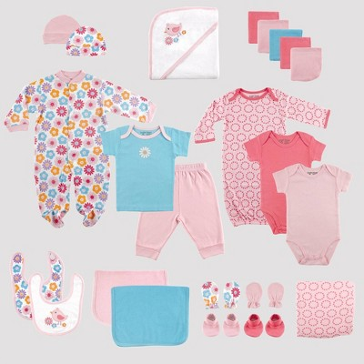 Luvable Friends Baby 24pc Gift Cube Bodysuit - Pink/Blue 0-6M