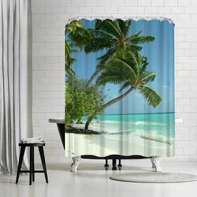 "Americanflat Maldives Beach Travel Holiday by Wonderful Dream 71"" x 74"" Shower Curtain"