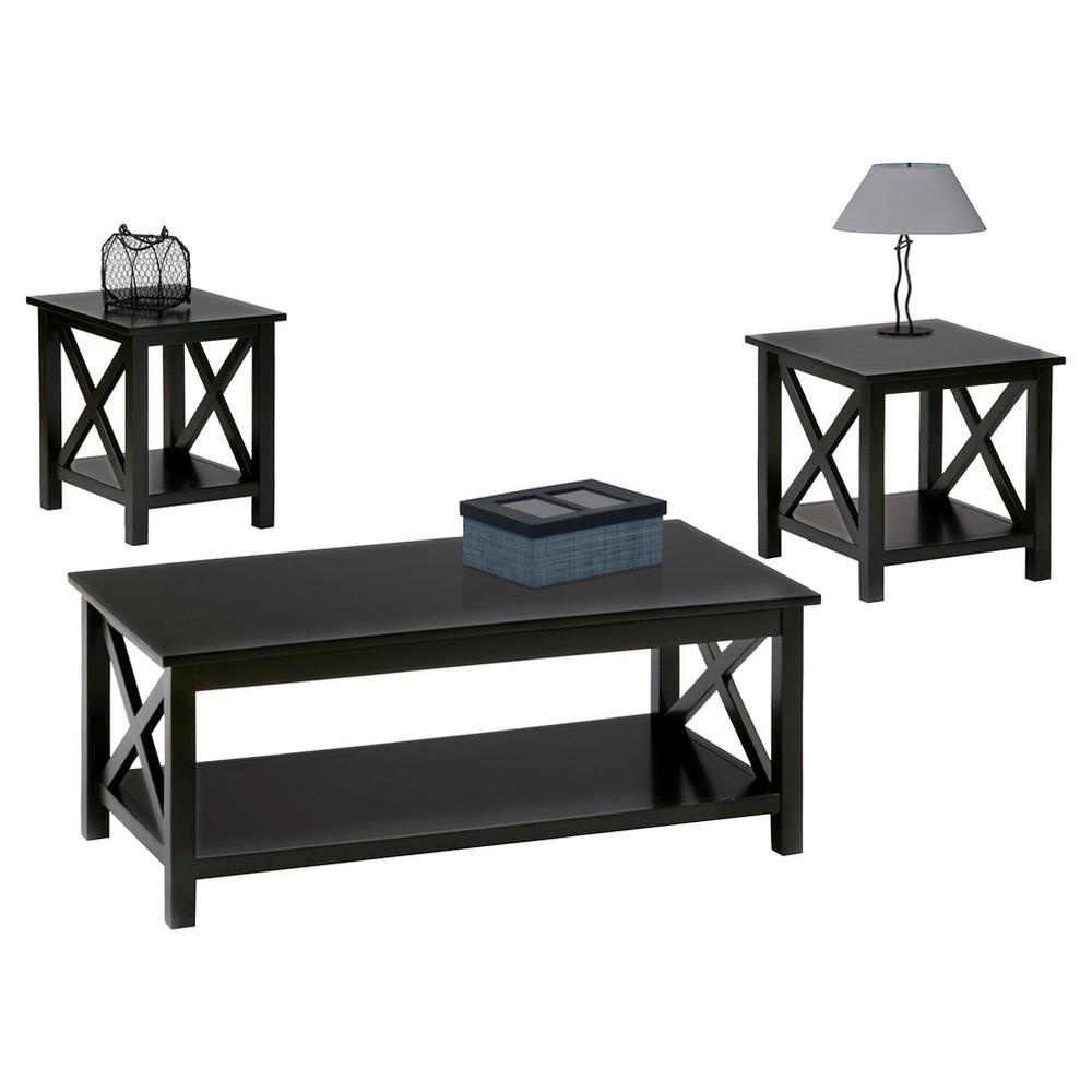 Seascape Occasional Table Set - Progressive Furniture, Black