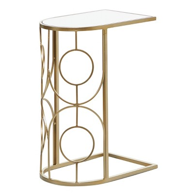 Contemporary Mirrored Accent Table Gold - Olivia & May