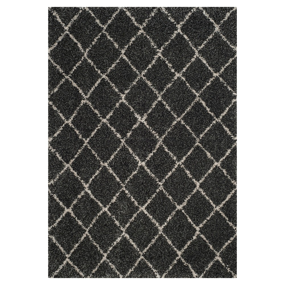Anthracite/Beige Abstract Loomed Area Rug - (5'1