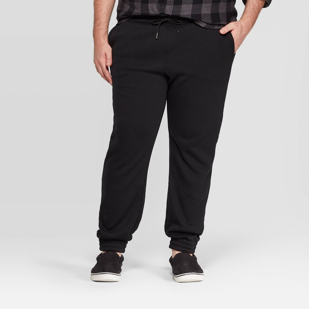 Men's Big & Tall Jogger Pants - Goodfellow & Co Black 2XBT, Men's was $24.99 now $17.49 (30.0% off)