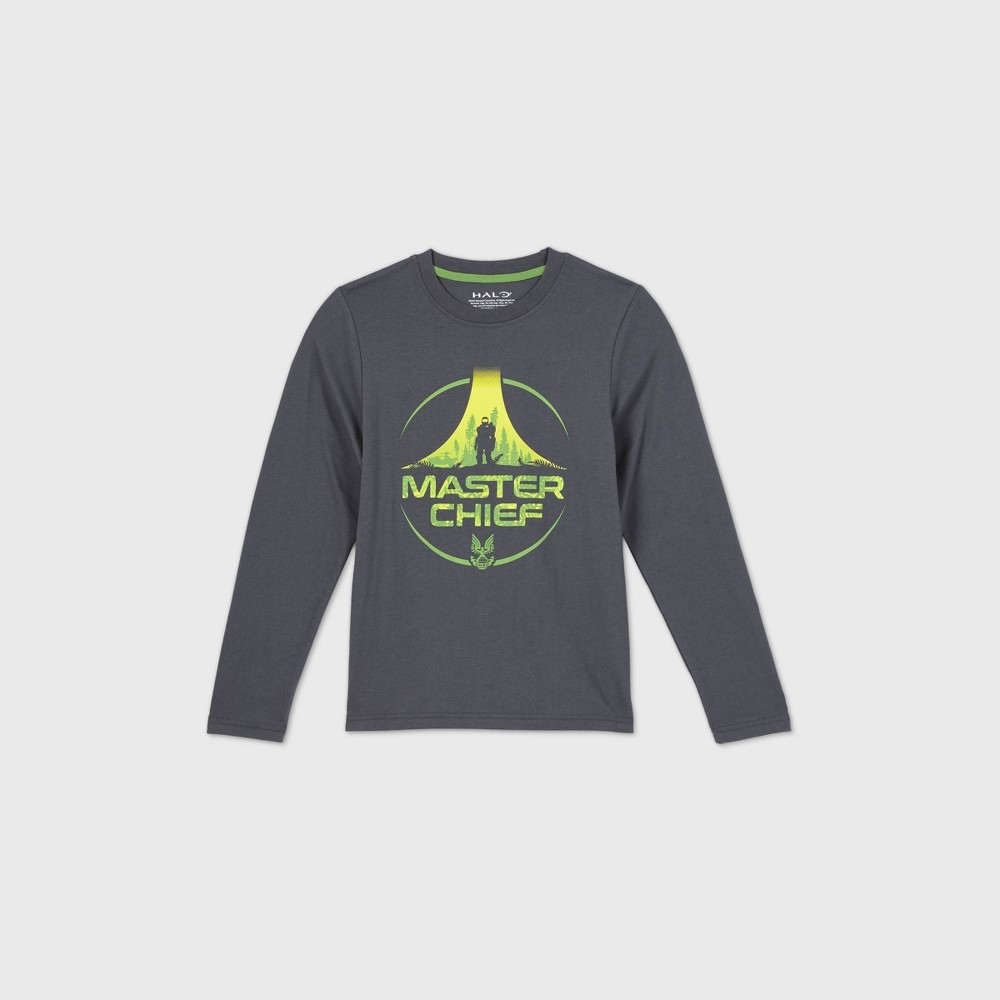 Boys 39 Halo 39 Master Chief 39 Graphic T Shirt Gray Xxl