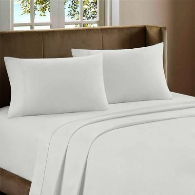 Queen 600 Thread Count Cotton Rich Sateen Sheet Set White - Color Sense