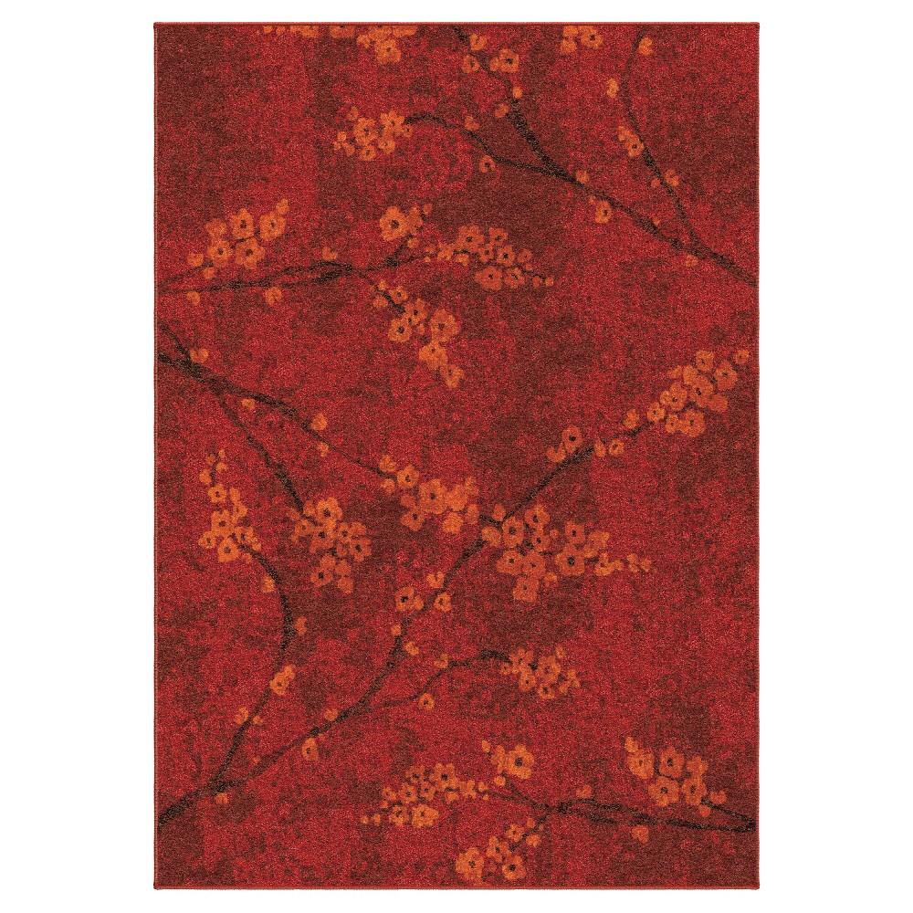 Blossom Overdye Area Rug - Red (6'7