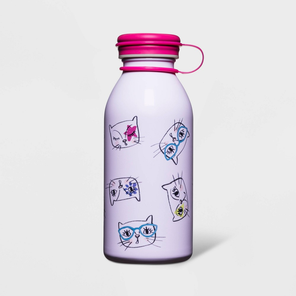 Image of 12oz Stainless Steel Water Bottle Cats Purple - Cat & Jack
